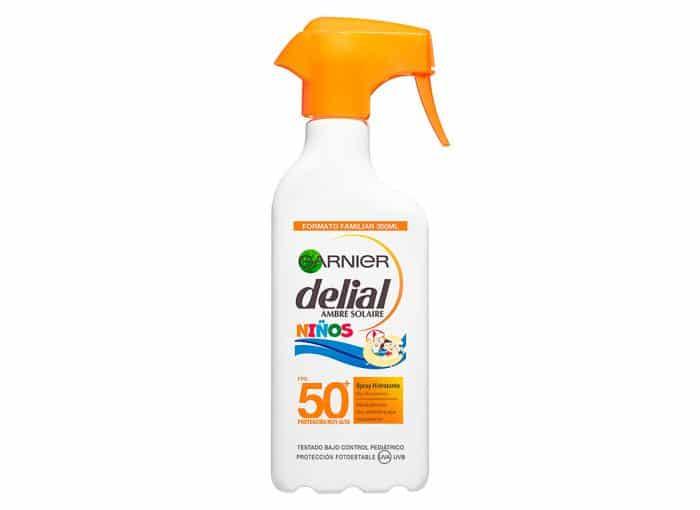 Crema de protección solar Garnier Delial Ambre Solaire Niños Spray Hidratante SPF 50+