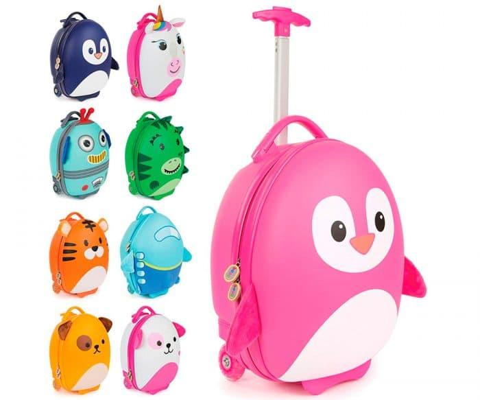 Maleta de viaje para niña y niño Tiny Trekker Maleta Trolley, de Boppi