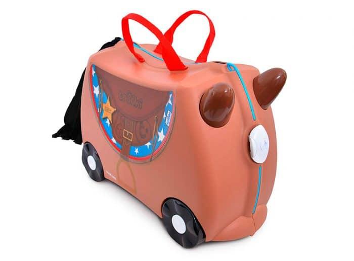 Maleta de viaje para niños Trunki Maleta Correpasillos Caballo Bronco, de Trunki