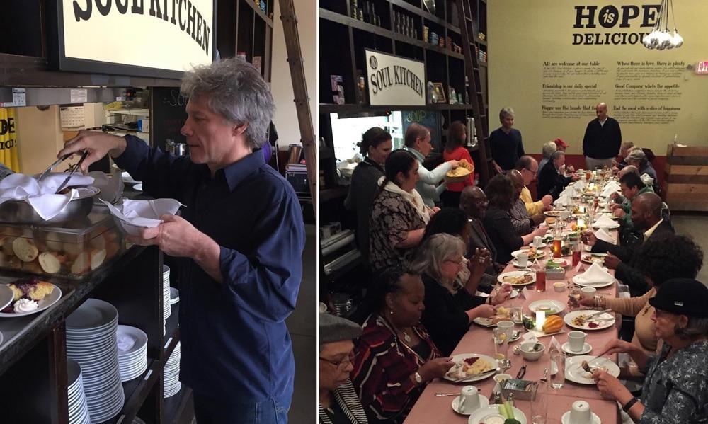 Jon Bon Jovi abrió dos restaurantes donde las personas sin recursos pueden comer sin pagar