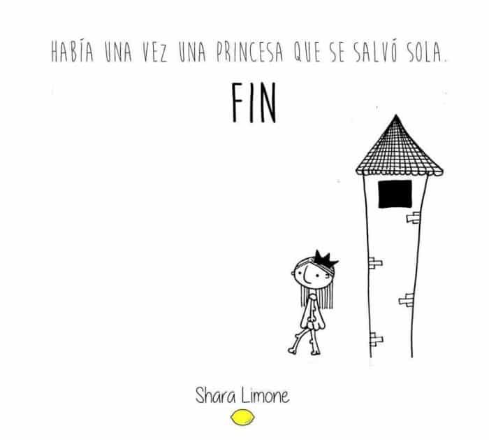 princesa salvó sola fin