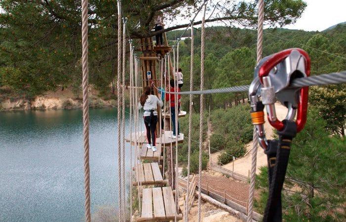 Parque de aventura Forestal Park, en Guadarrama, Madrid