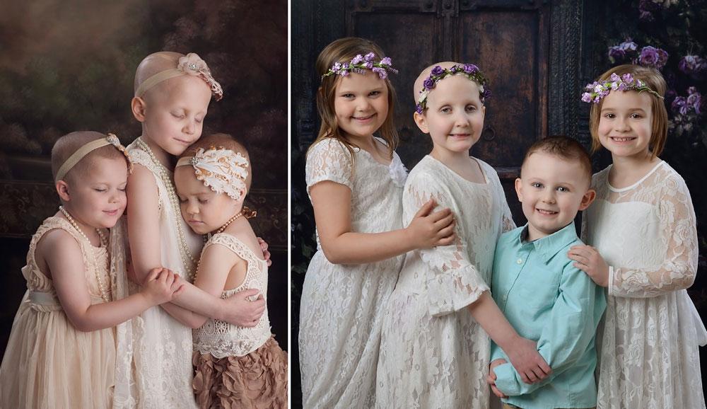 Estos niños se hacen una foto por cada año que superan el cáncer