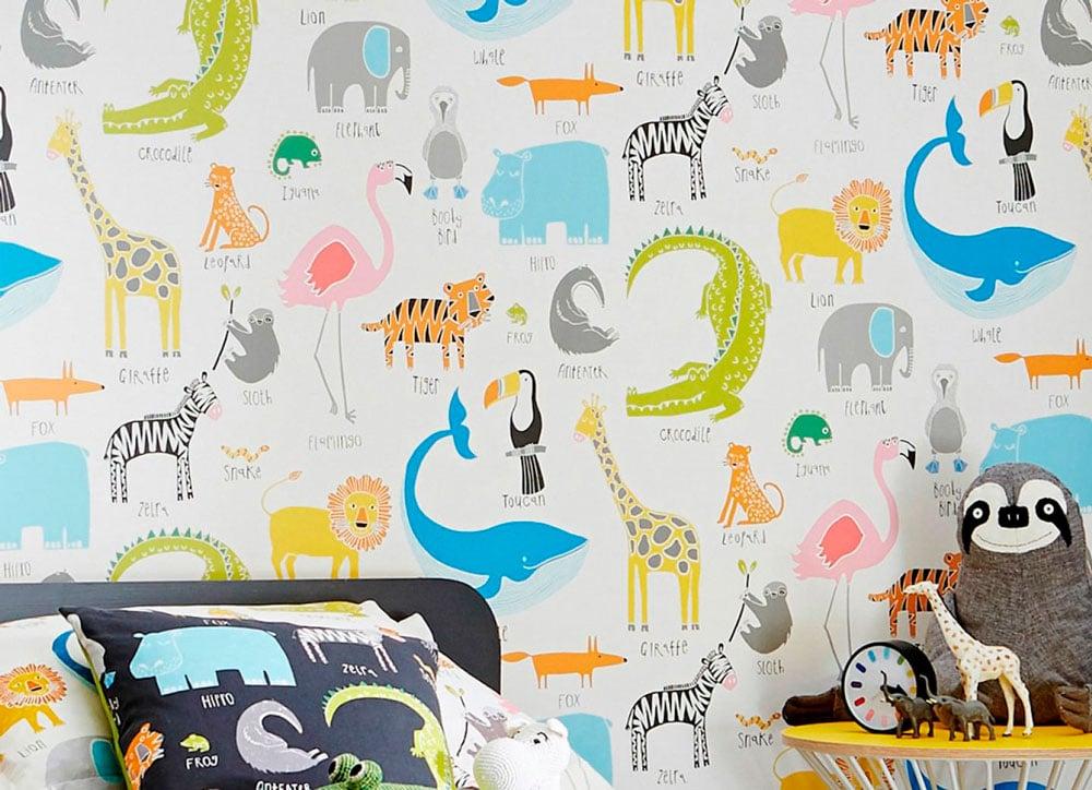 5 tendencias para decorar una habitación infantil con papel pintado