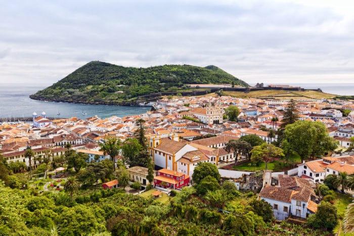Angra do heroísmo, isla Terceira, azores, portugal