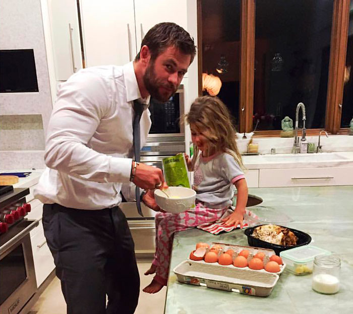 Chris Hemsworth y su hija India Rose
