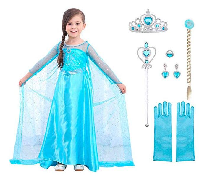 Disfraz para niña de princesa Elsa