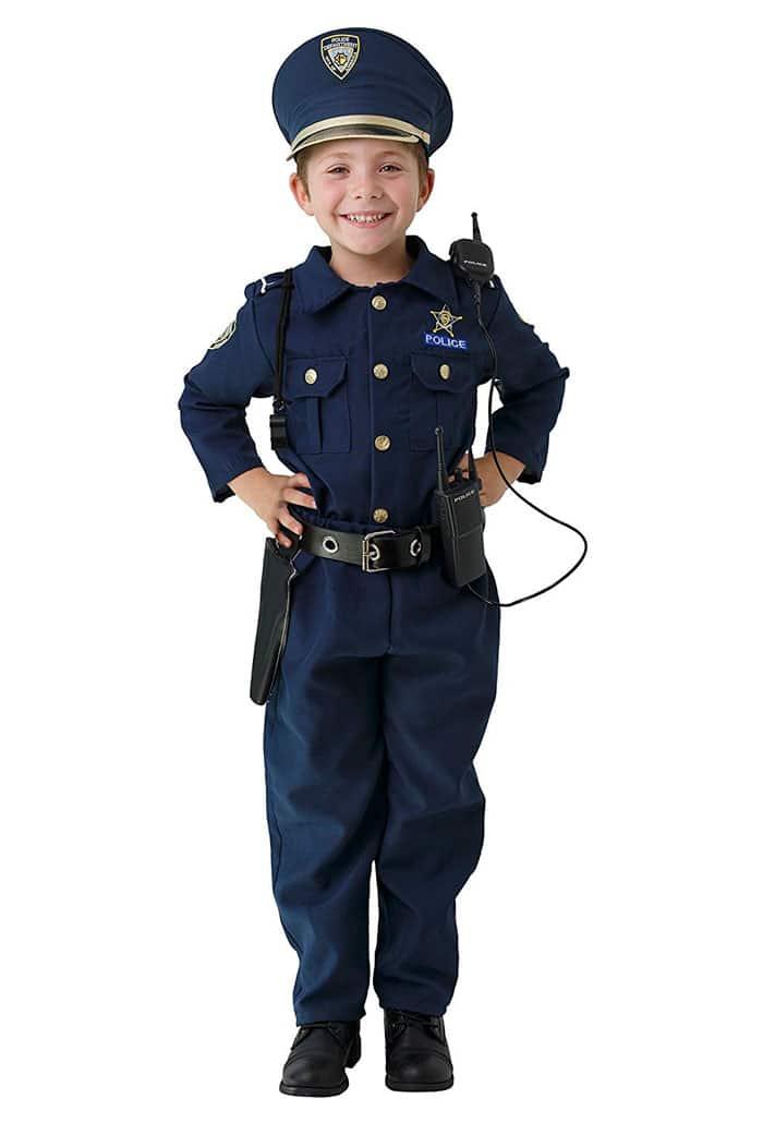 Disfraz niño y niña de policía