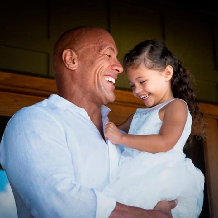 The Rock y su hija Jasmine
