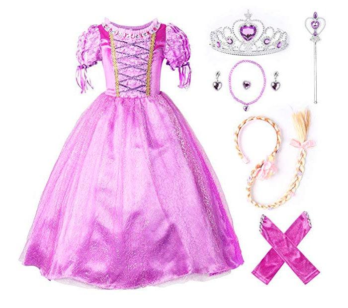 Vestido para niña de princesa