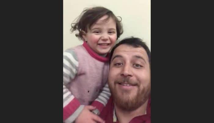 padre sirio simula bombas juego hija no miedo