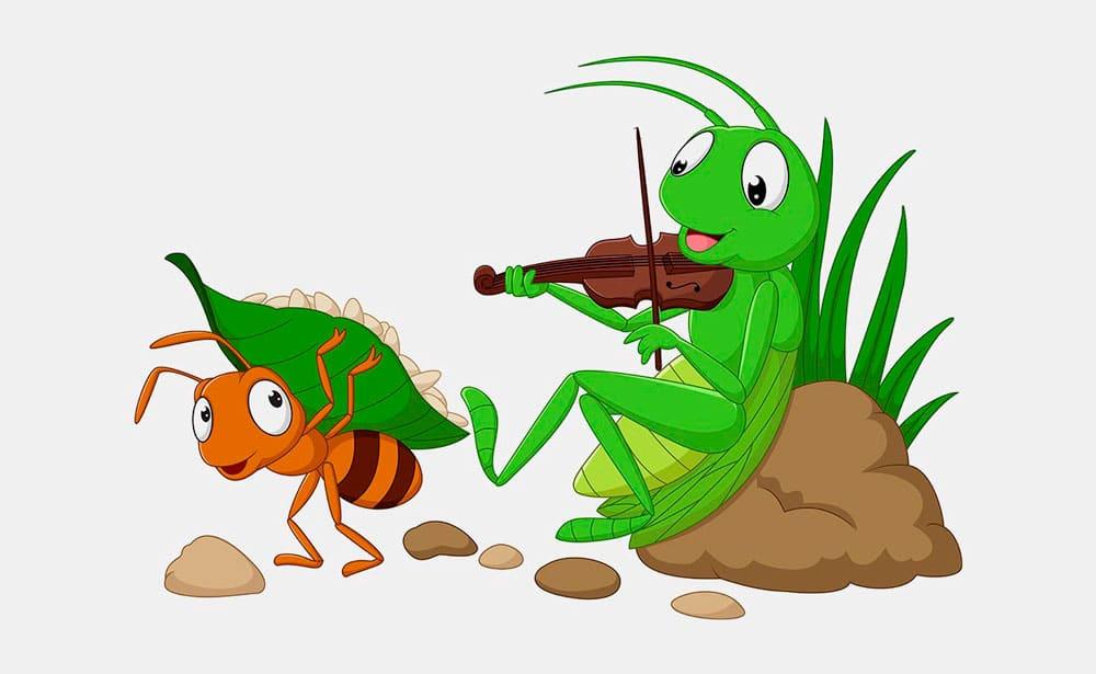 La cigarra y la hormiga: Una fábula para enseñarles a los niños el valor del esfuerzo