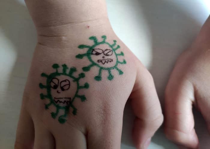 coronavirus juego niños