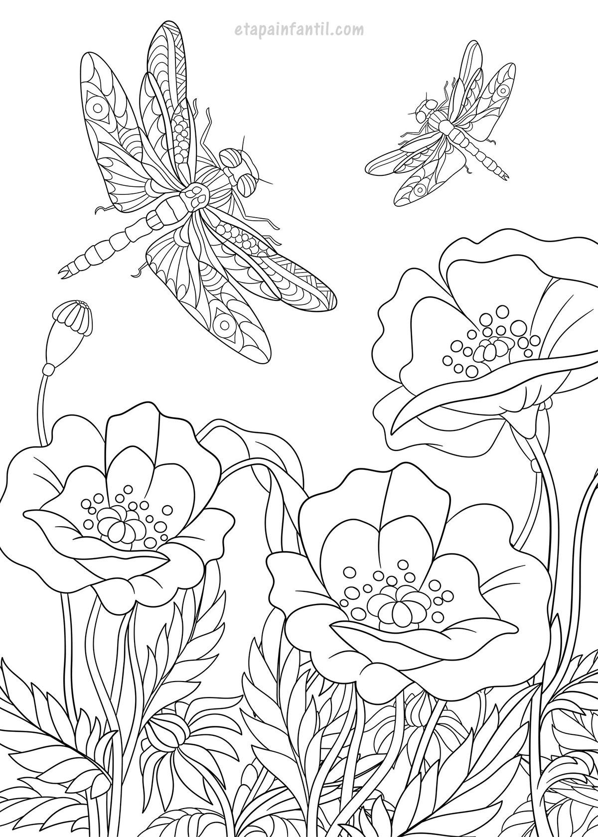 Flores de primavera para colorear: Disfrutar de la primavera sin salir de  casa - Etapa Infantil