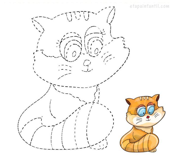 Dibujo de conectar puntos de gato