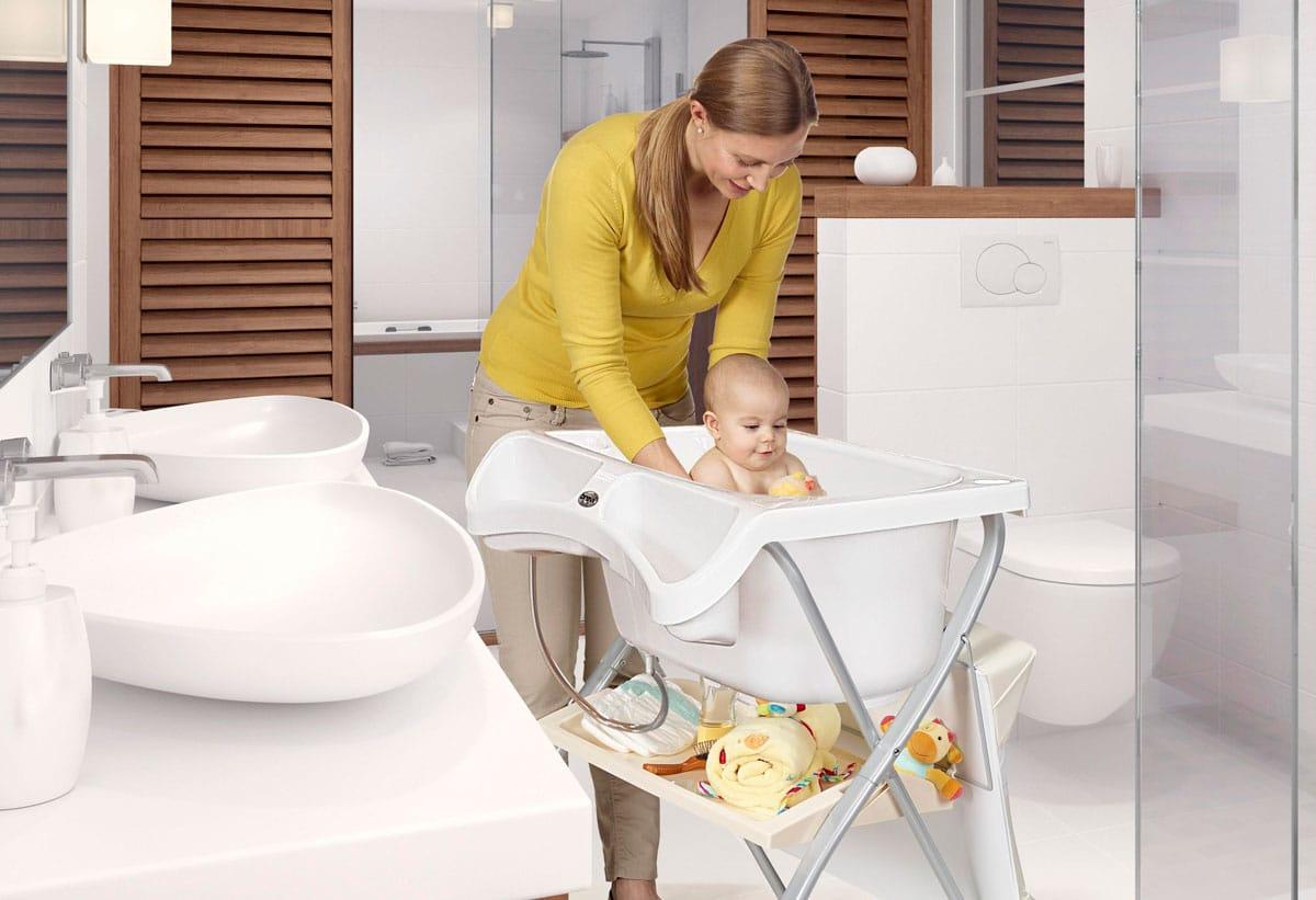 Brevi Lindo bañera cambiador plegable para bebés