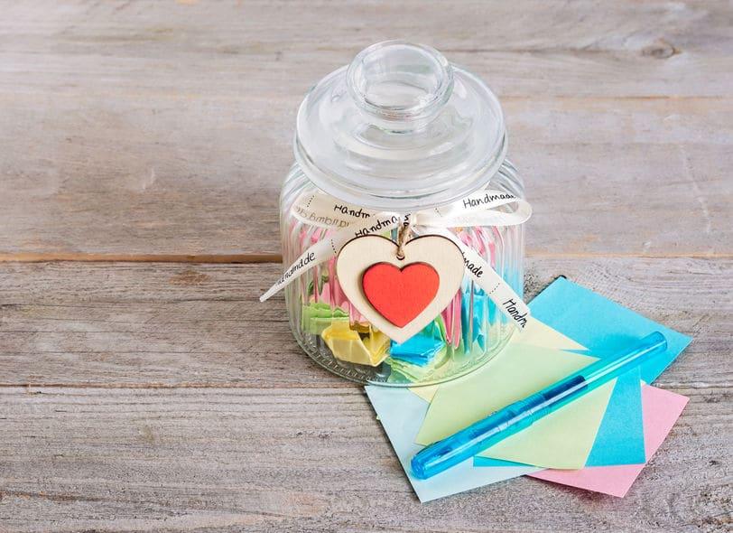 tarro tarjetas amor