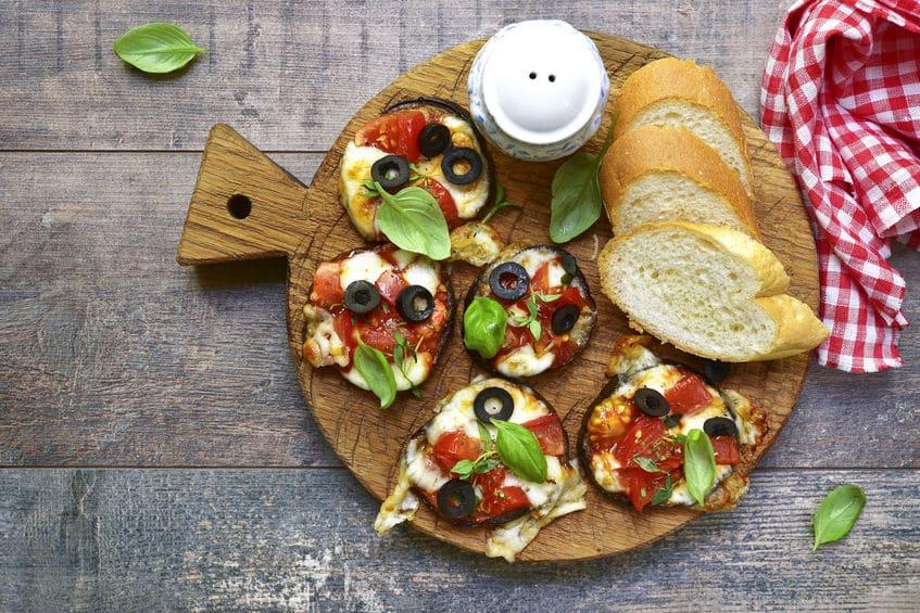 Receta Pizza de berenjena