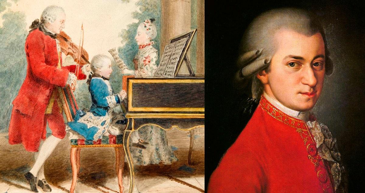 La vida de Mozart contada para niños
