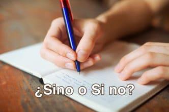 Sino o Si no