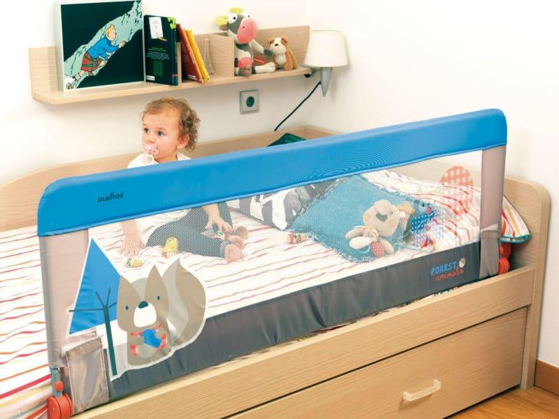 barrera cama bebé