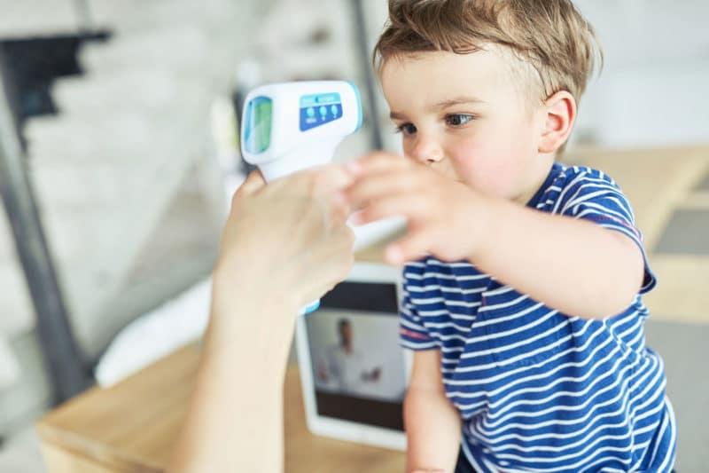 Termómetro sin contacto de frente para bebé