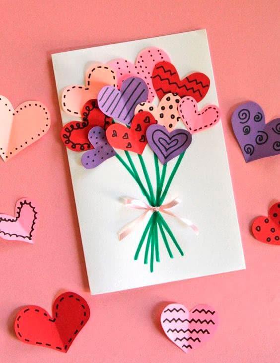 Manualidad San Valentin Tarjeta felicitacion