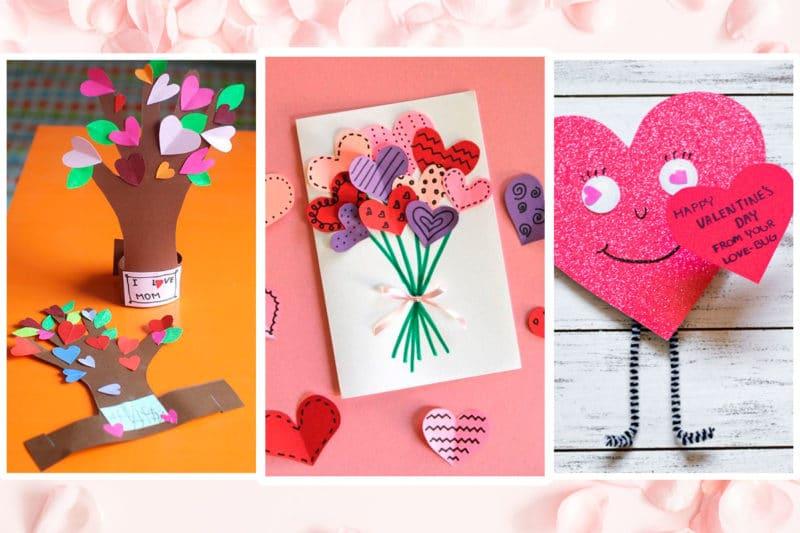 5 manualidades de San Valentín para hacer con niños