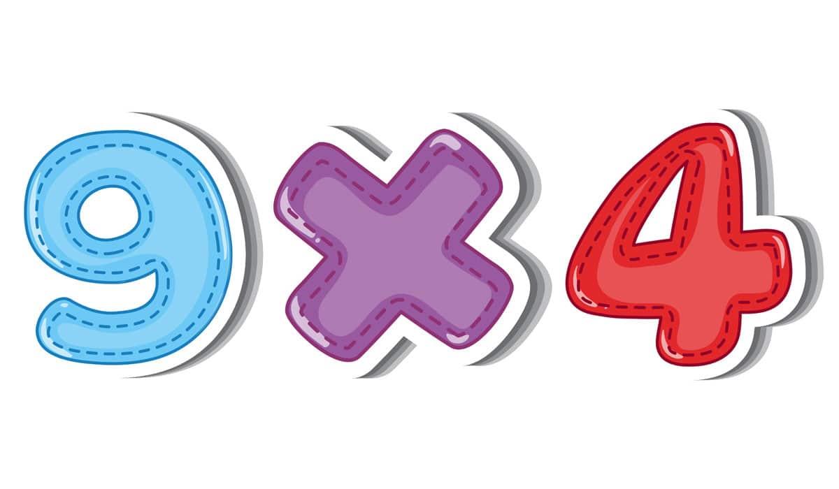 Aprender la tabla de multiplicación del 9