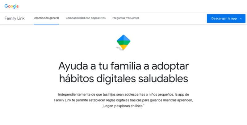 Control parental Google