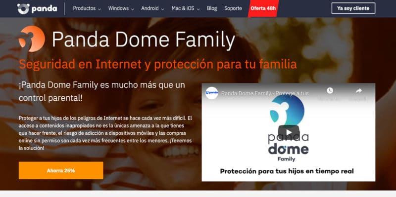 Control parental Panda Dome Family