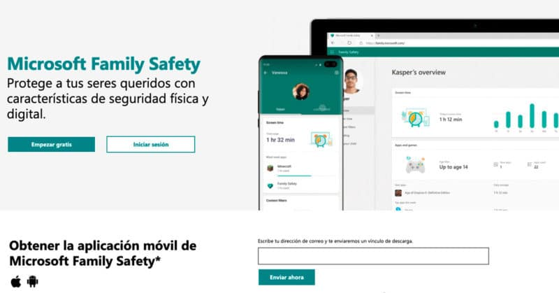 control parental Microsoft Family Safety