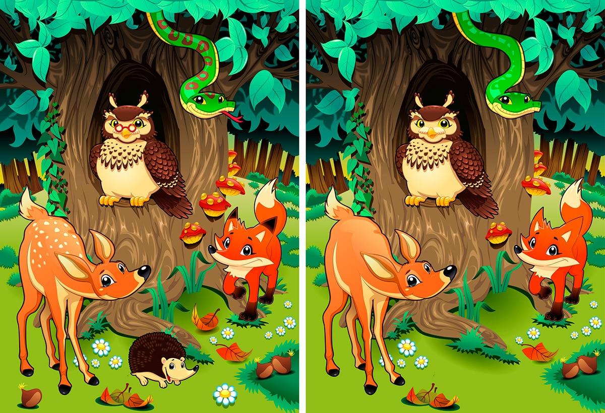 Encuentra las diferencias, un juego para estimular el desarrollo infantil