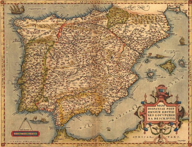 Mapa antiguo de España