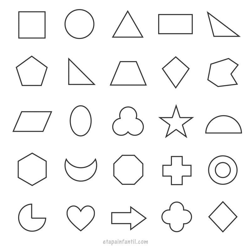Figuras geométricas para imprimir y colorear