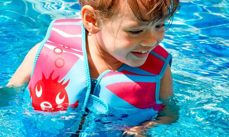 Chaleco flotador seguro