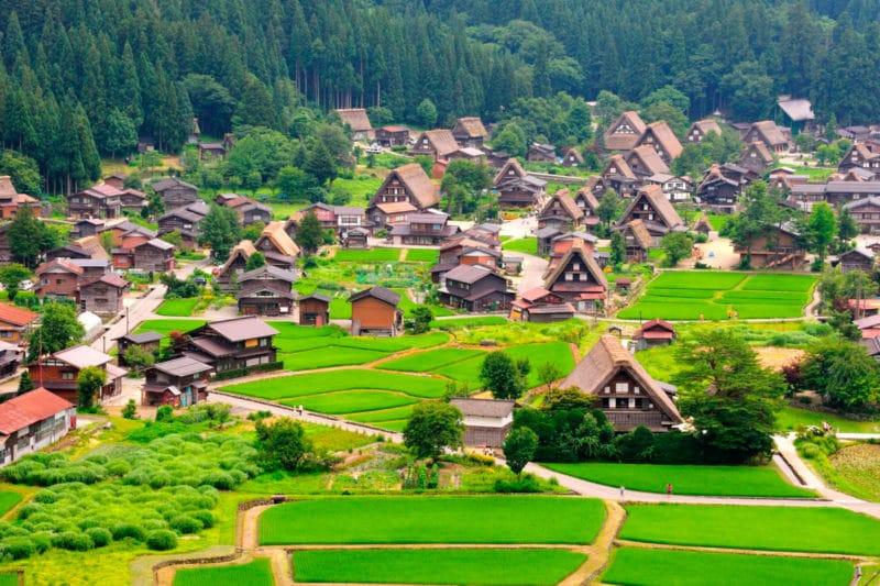 Aldea Shirakawa-go, en Gifu, Japón