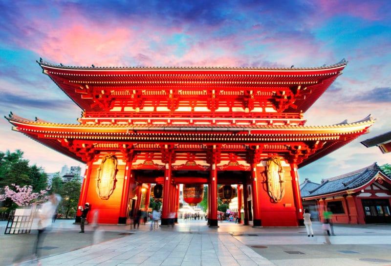 Templo Sensō-ji, en Asakusa, Taito City, Tokyo, Japón