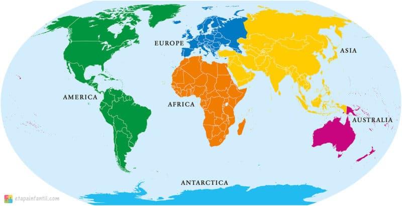 Mapa continentes