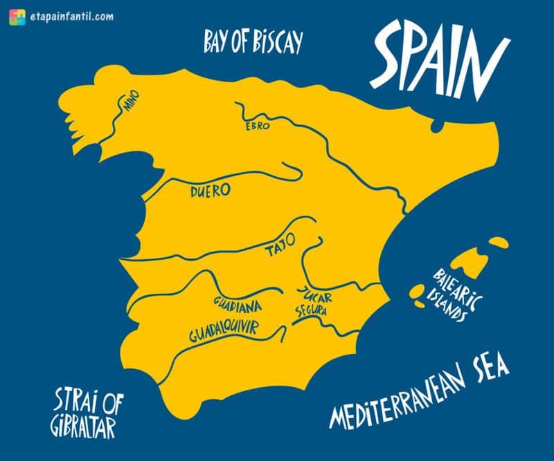 Mapa principales ríos España