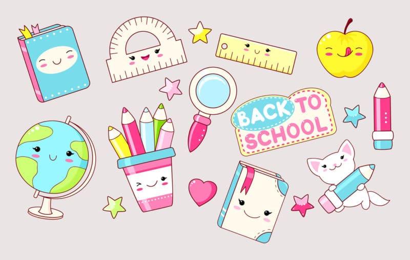 Material escolar kawaii