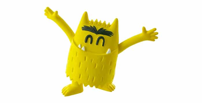 monstruo colores amarillo alegría