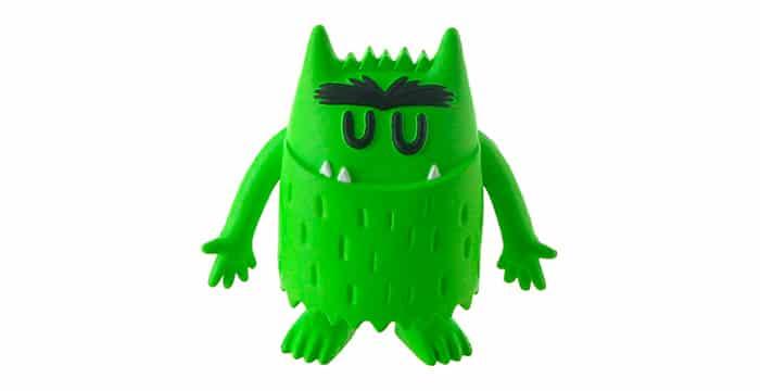 monstruo colores verde calma